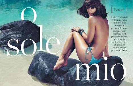 Tropical Mermaid Editorials - The ELLE France