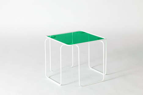 Acrylic Top Tables - Minis by Peter Johansen is Changeable and Lightweight