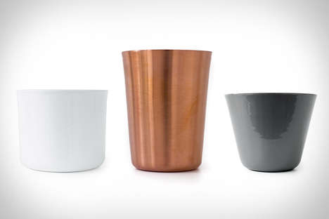 Minimalist Metal Cups - The Makr Tumbler Collection is Modernly Medieval