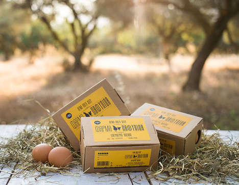 Condensed Egg Packaging - Pafylida Farm in Greece Uses a Compact Design