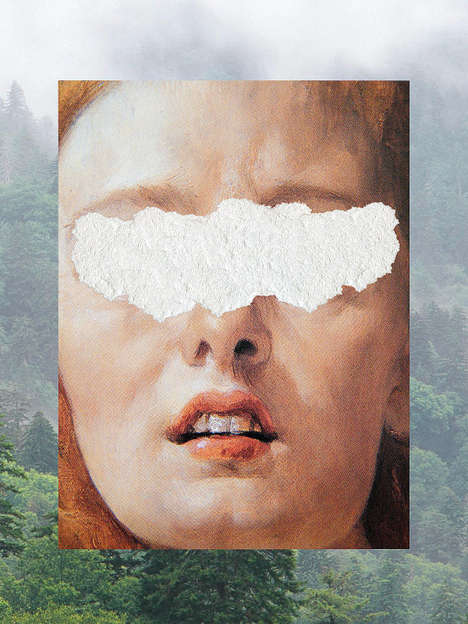 Digitally Torn Collages - Artist Nicholas Mottola Manipulates Anonymity through Destruction