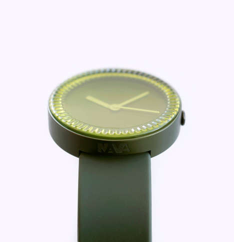 Notched Minimalist Watches - Bottle Watch by Industrial Facility is Modeled After Glassware Bottoms