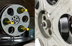 Bambeco's Vintage Film Reel Wine Rack is Perfect for Movie Lovers