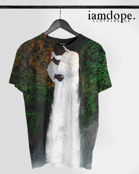 Topographic Rapper Tees - I Am Dope's Gucci Waterfall Shirt Features Christopher T. Mitchell's Art