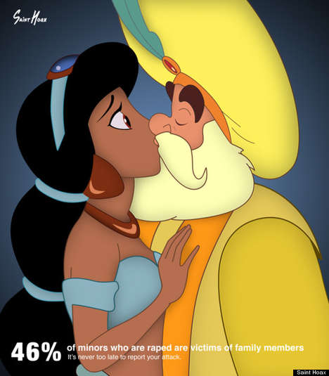 Incestuous Princess Posters - These Abuse Awareness Illustrations by Saint Hoax are Cringe-Inducing