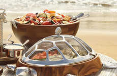 The Turtle Chip and Dip Server is Perfect for a Beach Barbecue
