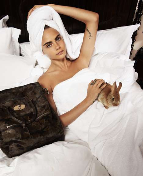 Sleepy Supermodel Editorials - In Bed with Cara Delevingne for The Telegraph is a Timely Photoshoot
