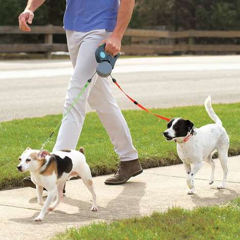 Tandem Dog Walking Leashes - The Tangle Free Dual Dog Leash Makes Walking Two Dogs Easy