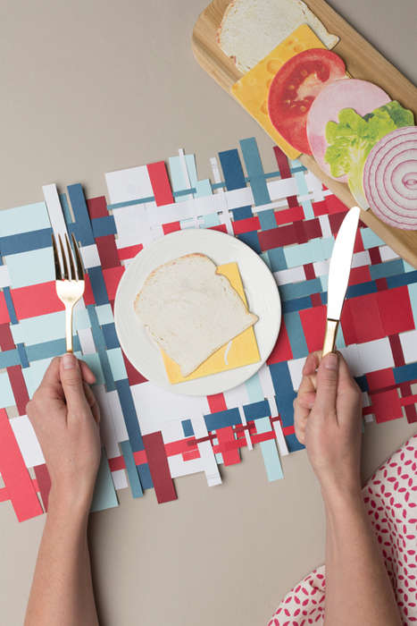 Woven Patriotic Placemats - These DIY Placemats are an Easy to Follow Fourth of July Craft