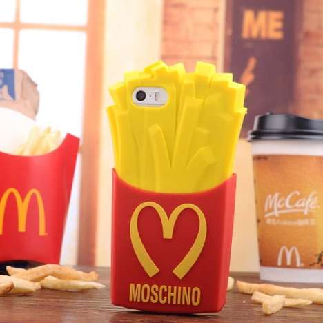 Fast Food Phone Cases - The Moschino French Fry Case is a Fashionable Spoof on McDonald