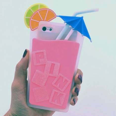 Party Drink Phone Cases - This Summer Phone Case Protects Smartphones from Spills