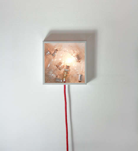 Shattered Lightbulb Lamps - This Bulb Lamp is Called the Bulbbox, Made with Glass Shards