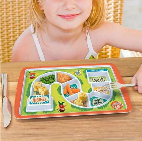 Gamified Tot Meal Plates - The Dinner Winner Plate for Kids Makes Cleaning a Plate Fun