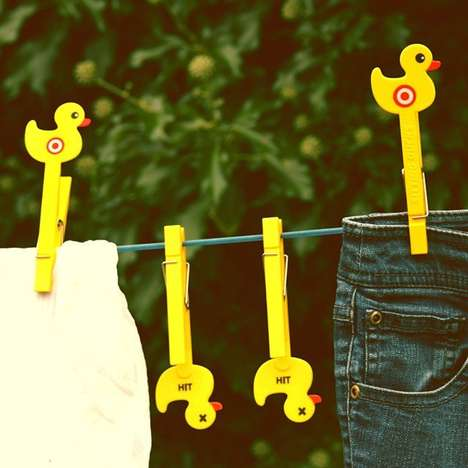 Target Practice Clothespins - The Sitting Duck Clothes Pegs Bring Back a Favorite Game
