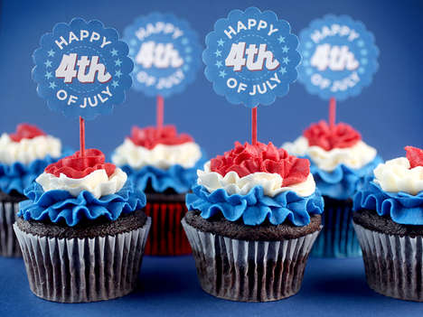 Patriotic Ruffled Cupcakes - These Memorial Cakes by Bakerella Wish You a Happy 4th of July