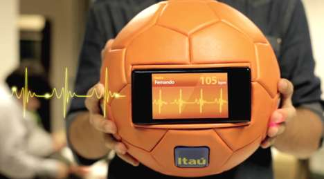 Pulse-Reading Soccer Balls - The Heart Ball Captures the Pulse of Brazilian World Cup Soccer Fans