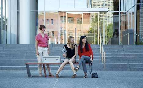 Cellphone Charging Benches - The Solar Panel Park Bench Charges Your Phone in Public