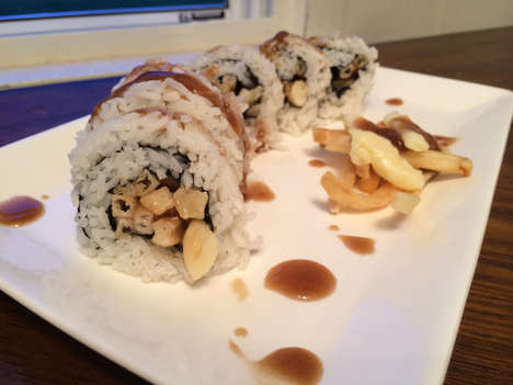 Peculiar Poutine Sushi - The Vulgar Chef Comically Creates this Japanese-Canadian Food Fusion