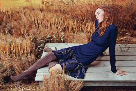 Warm Western Lookbooks - The Candela Fall 2014 Catalog iHas a Golden Gloaming Glow
