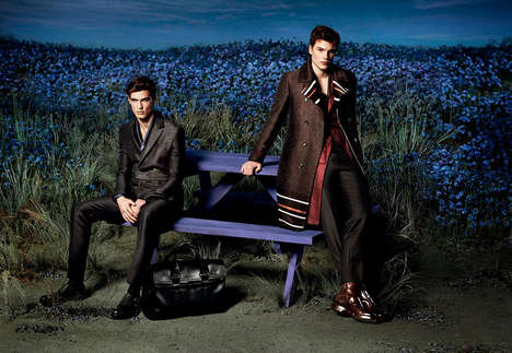 Luxe Lilac Campaigns - The Salvatore Ferragamo Fall/Winter 2014 Advertorial Exudes Elegance