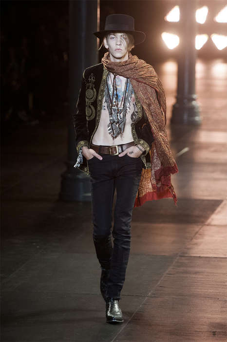 Bohemian Cowboy Runways - The Saint Laurent Spring/Summer 2015 Collection is Western-Themed