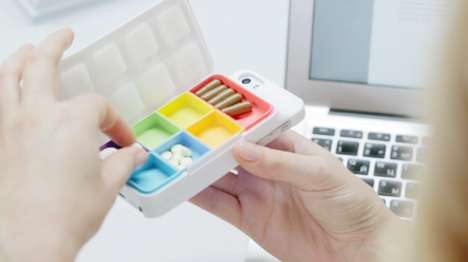 Pill Box Phone Cases - The Get Well Kit Digital Pill Box Helps You Remember to Take Your Pills