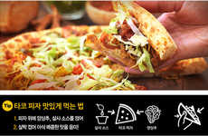 Crunchy Taco Pizzas - Pizza Hut Korea's Latest Pizza is Meant to be Eaten Folded Like a Taco