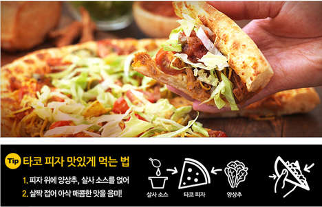 Crunchy Taco Pizzas - Pizza Hut Korea