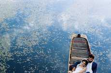Matrimonial Gondola Editorials - Spur Features a Venetian Wedding-Themed Shoot