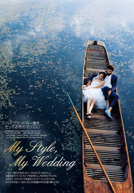 Matrimonial Gondola Editorials - Spur August 2014 Features a Venetian Wedding-Themed Shoot