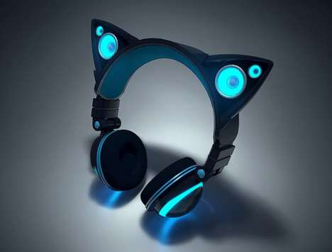 Feline Speaker Headphones - The Axent Wear Headphones Share Sound in Two Ways