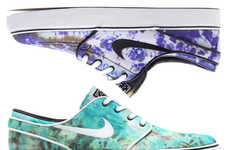 Technicolor Tie-Dye Sneakers - These Stefan Janoski Nike SB Shoes are Bright and Fun for Summer