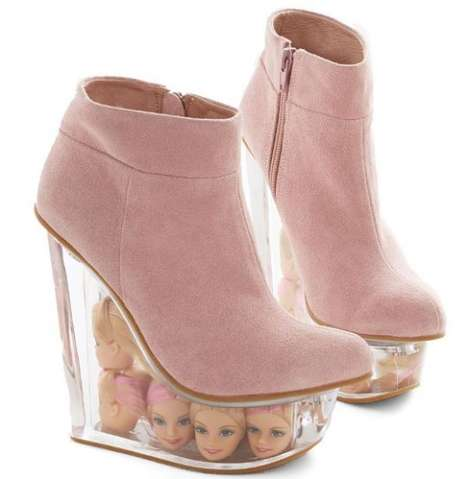 Decapitated Doll Shoes - The Stride Bright, Stride Far Wedge is Made for Barbie Lovers