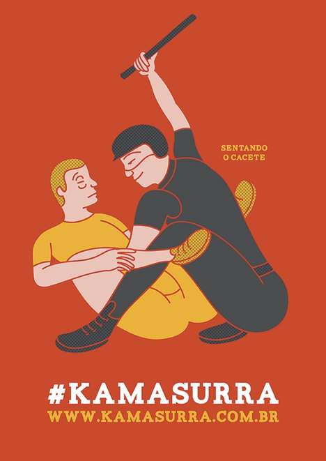 Suggestive Abuse Posters - Kama Sutra-Inspired Prints Advocate Against Police Brutality in Brazil