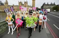 Political Pop Star Rallies - Campaigning to Save the Smithfield Market, People Dressed as Lady Gaga
