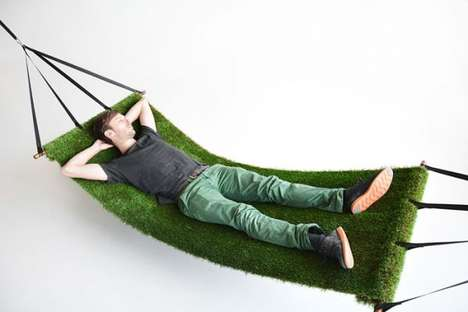 Lazy Grass Loungers - The Field Hammock is the Perfect Bed of Grass to Lay On