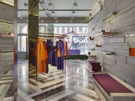 Elegant Concrete Retailers - The Roksanda Ilincic Store by Adjaye Associates Lets Colors Pop