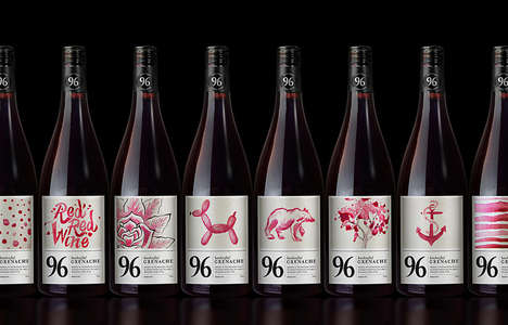 Handpainted Wine Branding - Each of 96 Wines