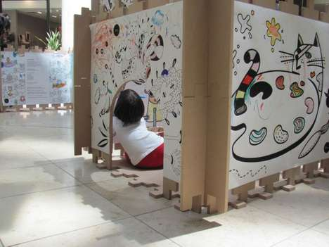 22 Interactive Art Shows for Kids - From Chaotic Sticker Installations to Suspended Canine Exhibits