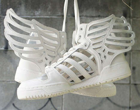 Angelic Feather Sneakers - Jeremy Scott Redesigns the JS Wings for the Adidas Originals Shoes