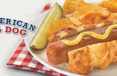 Bagel Hot Dog Buns - Einstein Bros.' Asiago Hot Dog Bun is Made with Cheesy Bagels