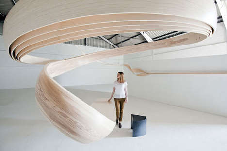 Majestically Swirling Desks - Magnus Celestii by Joseph Walsh is Heavenly Sculptural