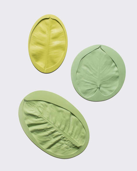 Leafy Imprint Platters - The Leaf Plates by Mischer