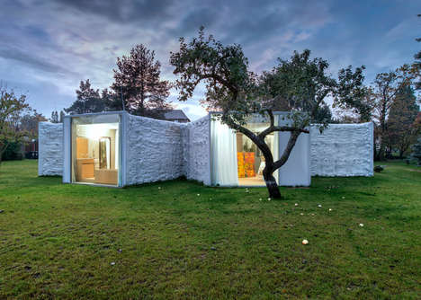 Private Chameleon Abodes - This Novel House Design Balances Intimacy with Isolation