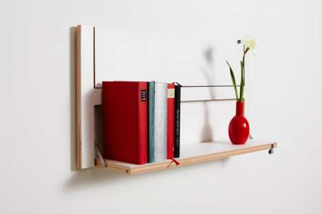 Fold-Up Shelving Units - The Flapps Shelving System by Ambivalenz Seriously Saves Space