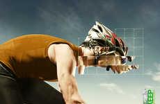 Pixelated Athlete Ads