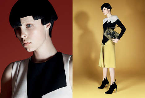 Asymmetrical Bob Fashion Ads - The Bottega Veneta Fall 2014 Campaign Stars Edie Campbell
