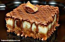 Chocolate Bar Confections - The Rolo Cheesecake Bar is a Decadent Dessert Hybrid