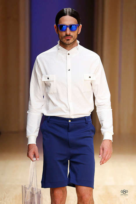 Clean-Cut Hipster Runways - The Georgina Vendrell Spring/Summer 2015 Collection is Sleek