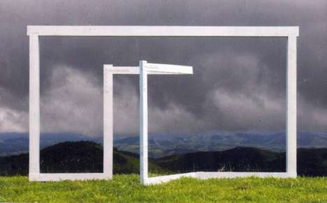 Goal Post-Like Sculptures - Portal do Sul by Pasha Radetzki is a Set of Simplistic Landscape Art